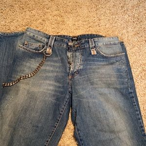 D&G Dolce Gabbana Men's Jeans with Chain